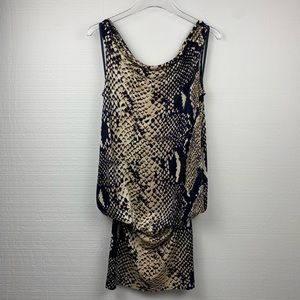 Diane Von Furstenberg Sleeveless Silk Print Dress